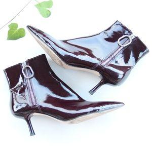 Zara Woman  Plum Purple Heel Bootie